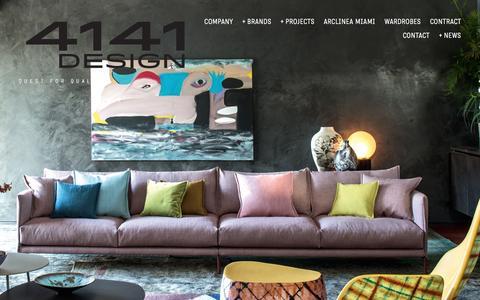 Screenshot of Press Page 4141design.com - NEWS — 4141 Design - captured Aug. 18, 2016