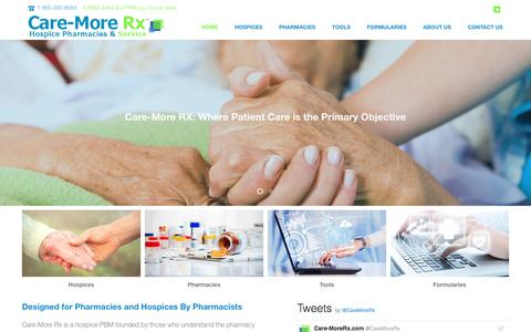 Screenshot of Home Page care-morerx.com - Home - Care-More Rx - captured Oct. 21, 2016