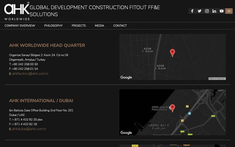 Screenshot of Contact Page ahk.com.tr - AHK - Contact - captured Oct. 2, 2018