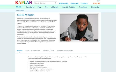 Screenshot of Jobs Page kaplanco.com - Careers At Kaplan Early Learning Company - captured Oct. 30, 2014