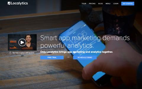 Screenshot of Home Page localytics.com - App Marketing & Analytics | Localytics - captured Oct. 7, 2015