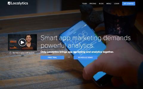 Screenshot of Home Page localytics.com - App Marketing & Analytics | Localytics - captured Oct. 7, 2015
