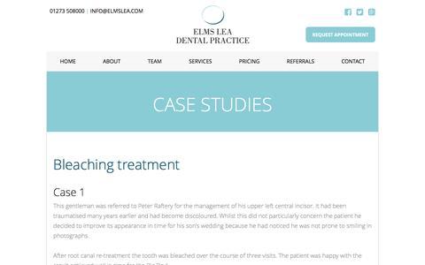 Screenshot of Case Studies Page elmslea.com - Dentistry pics - Elms Lea Dental Practice - Brighton - captured Nov. 6, 2016