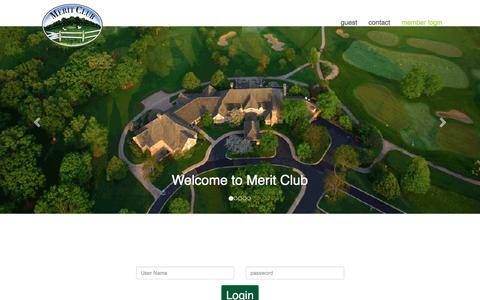 Screenshot of Login Page meritclub.org - Merit Club - Login - captured July 27, 2018