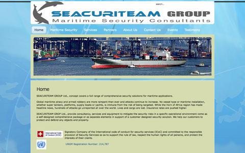 Screenshot of Home Page seacuriteam.com - Wait. Redirecting. - captured Sept. 30, 2014