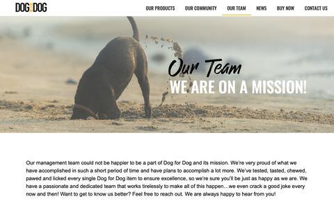 Screenshot of Team Page dogfordog.com - Our Team – Dog For Dog - captured June 5, 2019