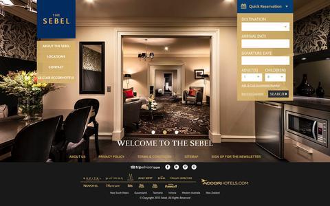Screenshot of Home Page thesebel.com - Home - captured Jan. 28, 2015