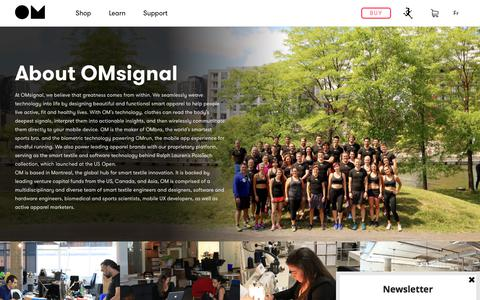 Screenshot of About Page omsignal.com - The team behind OMsignal - captured June 12, 2017