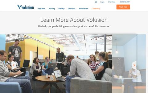 Screenshot of About Page volusion.com - Company - About us | Volusion - captured Oct. 10, 2014