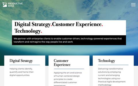 Screenshot of Home Page productiveedge.com - Digital Strategy, Customer Experience, Technology | Productive Edge - captured Nov. 13, 2018