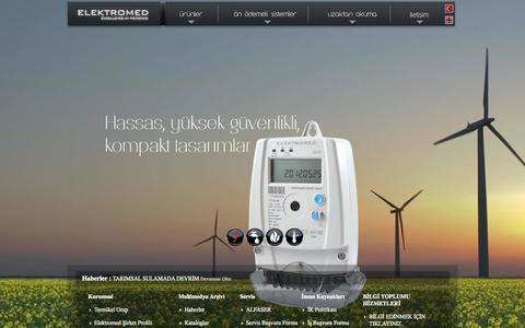 Screenshot of Home Page elektromed.com.tr - Elektromed | Elektrik Sayaçları | Su Sayaçları | Doğalgaz Sayaçları | Isı Sayaçları - captured Oct. 2, 2014