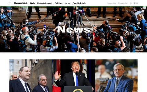 Screenshot of Press Page esquire.com - News and Politics - Breaking News - captured Jan. 18, 2019