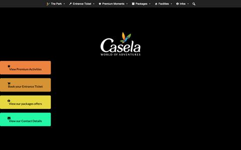 Screenshot of Home Page caselapark.com - WELCOME | CASELA WORLD OF ADVENTURES - captured Nov. 20, 2018