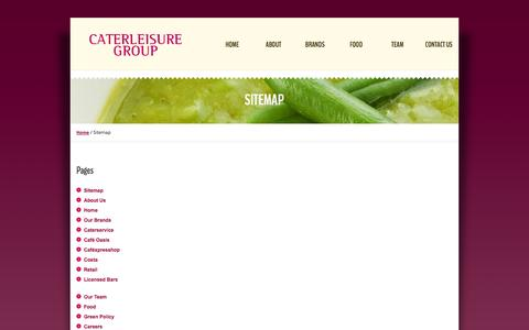Screenshot of Site Map Page caterleisure.co.uk - Sitemap Contract Caterers Caterleisure - captured Oct. 2, 2014
