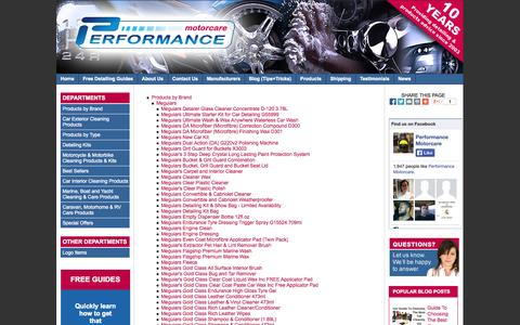 Screenshot of Site Map Page performancemotorcare.com - Site Map @ Performance Motorcare Products Ltd - captured Oct. 26, 2014