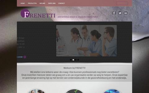 Screenshot of Home Page frenetti.com - Frenetti - captured Oct. 5, 2014