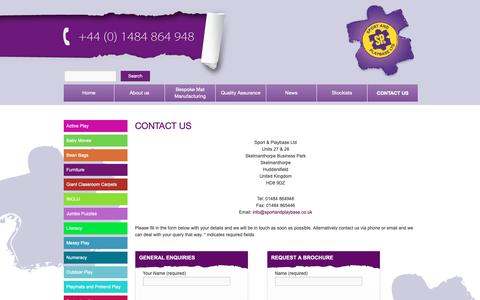 Screenshot of Contact Page sportandplaybase.co.uk - Contact Us | Childrens play mats | Childrens Educational MatsSport and Playbase - captured Oct. 18, 2018