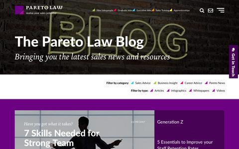 Sales Industry News, Tips & Advice | Pareto.co.uk Blog