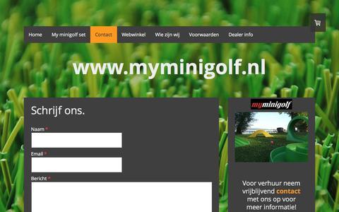 Screenshot of Contact Page myminigolf.nl - Contact - De website van myminigolf! - captured Feb. 26, 2016