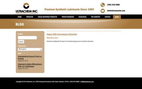 Screenshot of Blog ultracheminc.com - Blog | Ultrachem Inc. - captured Feb. 26, 2016
