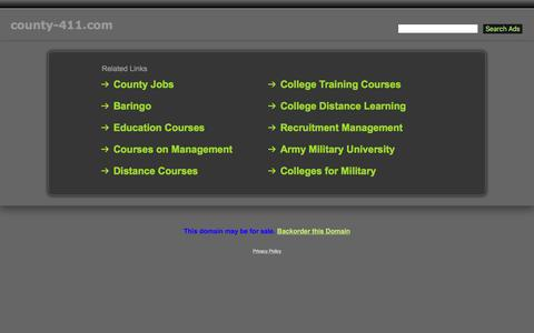 Screenshot of Home Page county-411.com - County-411.com - captured May 3, 2016