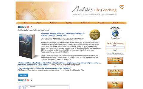 Screenshot of Products Page actorslifecoaching.com - Actors Life Coaching: Products - captured Sept. 30, 2014