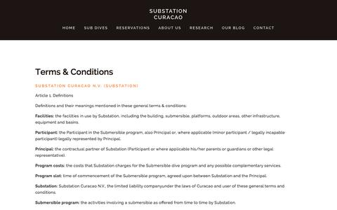 Screenshot of Terms Page substation-curacao.com - Terms & Conditions Ń Substation Curacao - captured Jan. 12, 2016