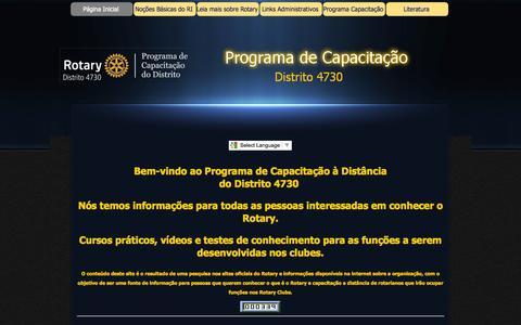 Screenshot of Home Page treinamentod4730.com.br - Capacitação D-4730 - captured Sept. 11, 2015