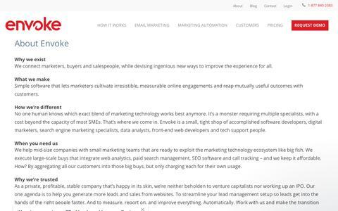 About us | Envoke Marketing Software