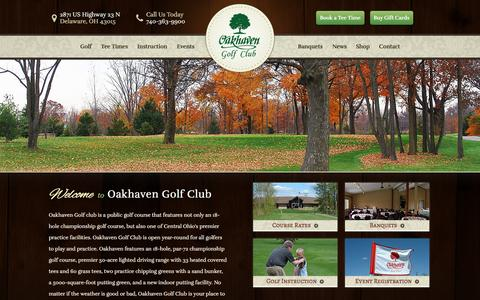 Screenshot of Home Page oakhaven.com - Oakhaven Golf Club - Delaware, OH - captured Feb. 16, 2016