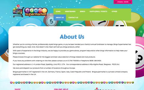 Screenshot of About Page bingosupermarket.com - About Us - Bingo Supermarket - captured Oct. 5, 2018