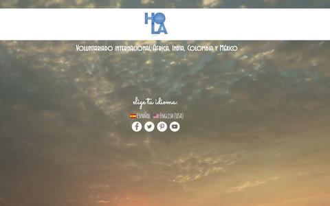 Screenshot of Home Page holaghana.org - HOLA GHANA Voluntariado Internacional �frica, India, Colombia y M�xico - captured Dec. 6, 2015