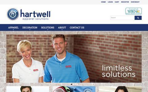 Screenshot of Home Page hartwell.com - Hartwell Apparel - Home - captured Sept. 20, 2015