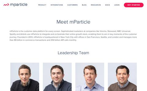 About Us - mParticle