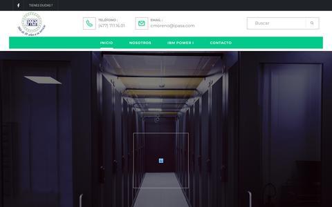 Screenshot of Home Page ipasa.com - Informática Práctica Aplicada - captured Nov. 6, 2018