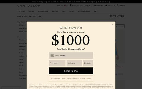 Women's Knits + T-Shirts on Sale: Great Deals on Simple Style: ANN TAYLOR