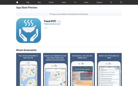 Feed NYC on the AppStore