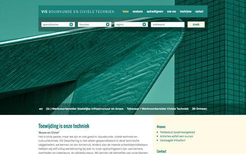 Screenshot of Home Page visdetachering.nl - Toewijding is onze techniek   ViS Detachering - captured Feb. 24, 2016