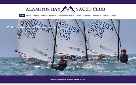 Screenshot of Home Page abyc.org - Alamitos Bay Yacht Club - captured Jan. 21, 2017