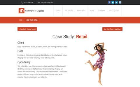 Screenshot of Case Studies Page idcomlog.com - Case Study: Retail - iD Commerce + Logistics - captured Feb. 11, 2016