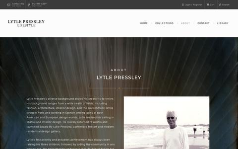 Screenshot of About Page lytlepressley.com - About - Lytle Pressley - captured Nov. 11, 2018