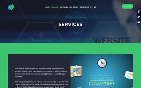Screenshot of Services Page multi-world.com - SERVICES - Multi-World Technologies - captured Nov. 17, 2018
