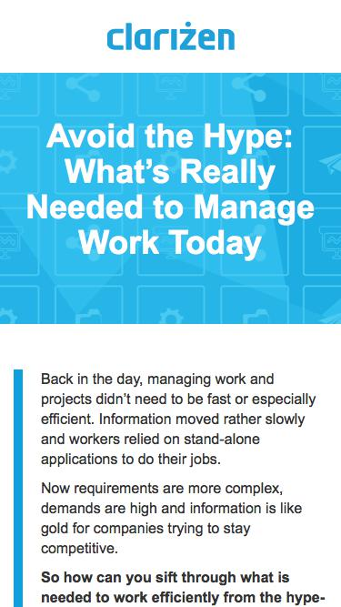 Avoid the Hype: What's Really Needed to Manage Work Today