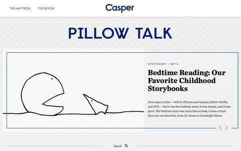 Screenshot of Blog casper.com - Casper - captured Oct. 28, 2014
