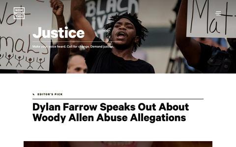 Screenshot of nowthisnews.com - Justice: Social & Criminal Justice News & Videos - NowThis - captured Jan. 22, 2018