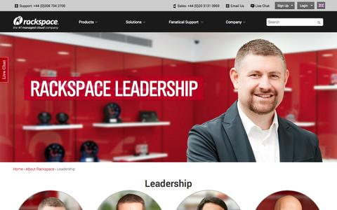 Screenshot of Team Page rackspace.co.uk - Leadership | Rackspace Hosting - captured Oct. 29, 2014