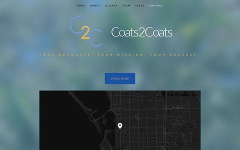 Screenshot of Contact Page coats2coats.com - coats2coats - Coats2Coats - captured July 19, 2018