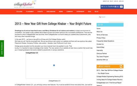 Screenshot of Blog collegekhabar.com - College Khabar's Official Blog - captured Sept. 19, 2014