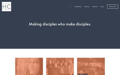 Screenshot of Home Page harrahchurch.org - Harrah Church - captured Nov. 4, 2018