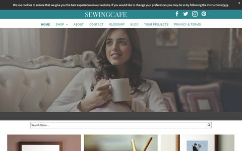 Screenshot of Home Page sewingcafe.co.uk - sewingcafe/home - captured Sept. 20, 2018